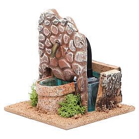 Fontana presepe in terracotta 13x12x12 cm s2