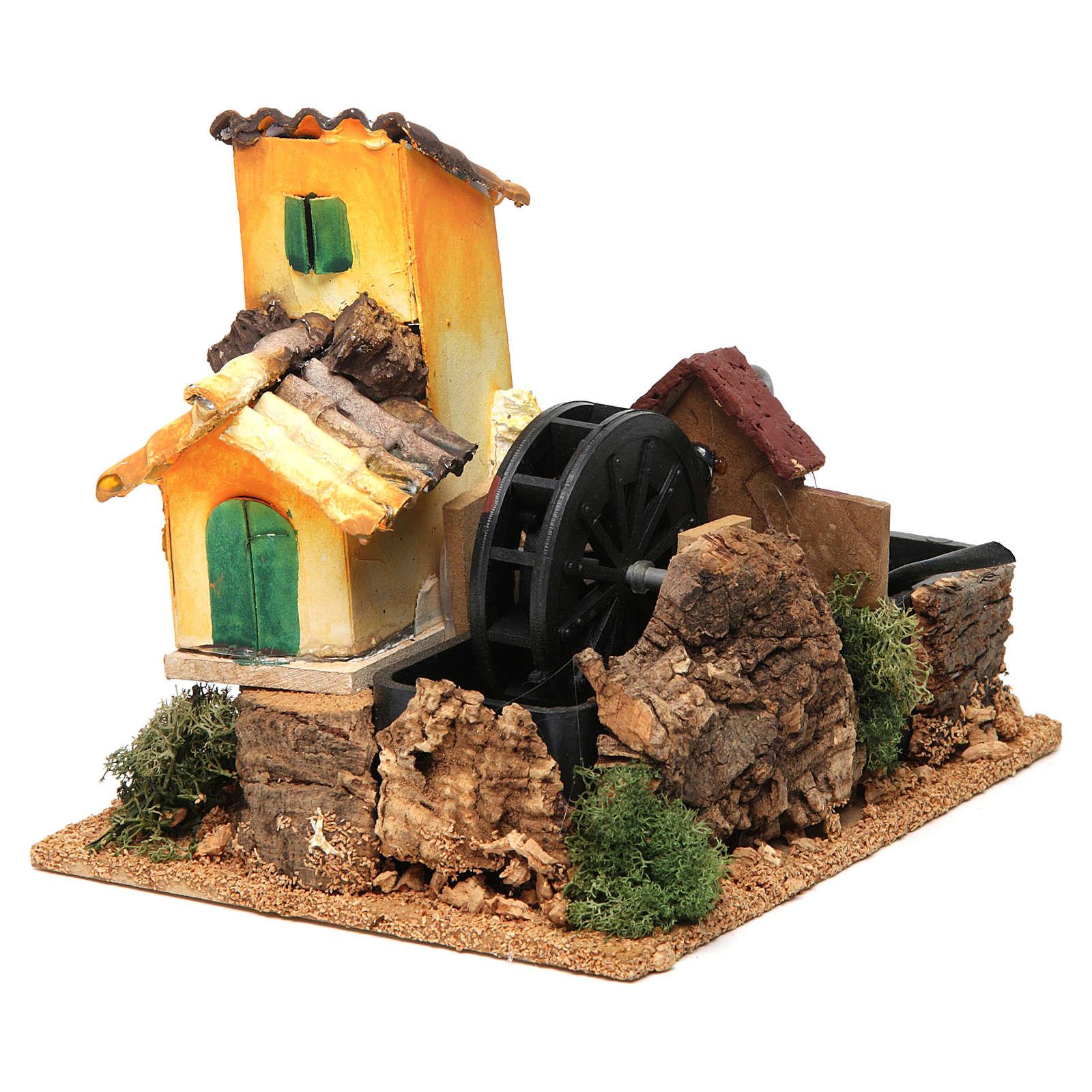 Nativity scene watermill 15x17x13 cm 4