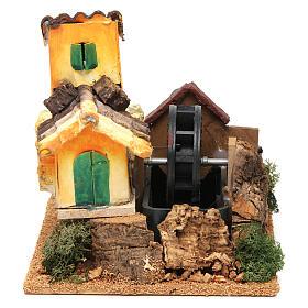 Nativity scene watermill 15x17x13 cm s1
