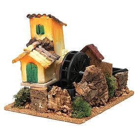 Nativity scene watermill 15x17x13 cm s2