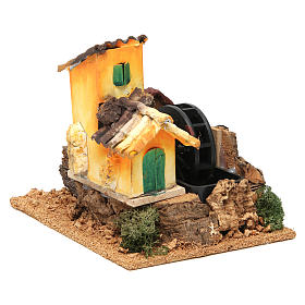 Nativity scene watermill 15x17x13 cm s3