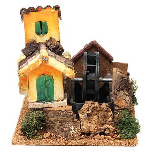Nativity scene watermill 15x17x13 cm 1
