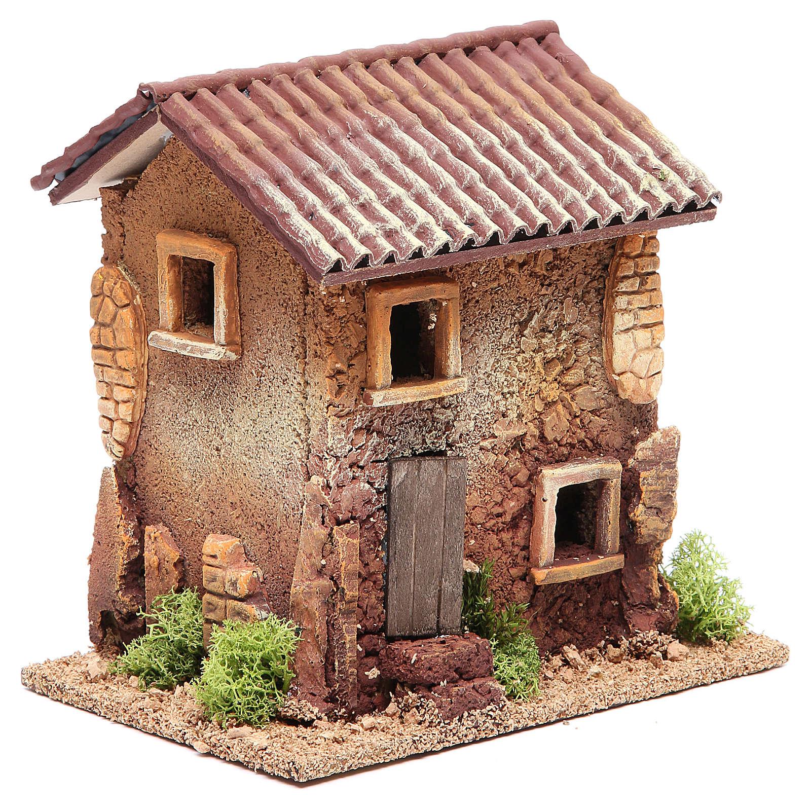 Maison crèche liège 18x18x13 cm 4