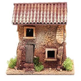 Maison crèche liège 18x18x13 cm s1