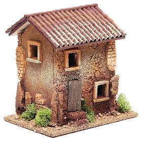 Maison crèche liège 18x18x13 cm s3
