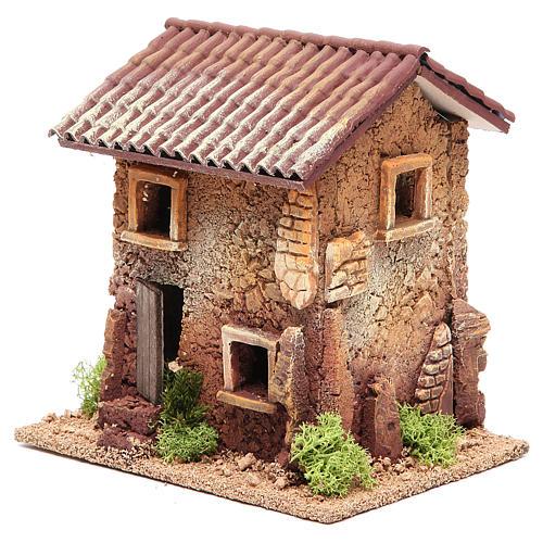 Maison crèche liège 18x18x13 cm 2
