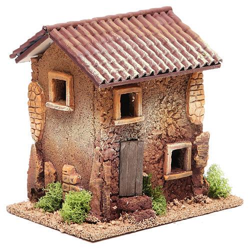 Casa presepe sughero 18x18x13 cm 3