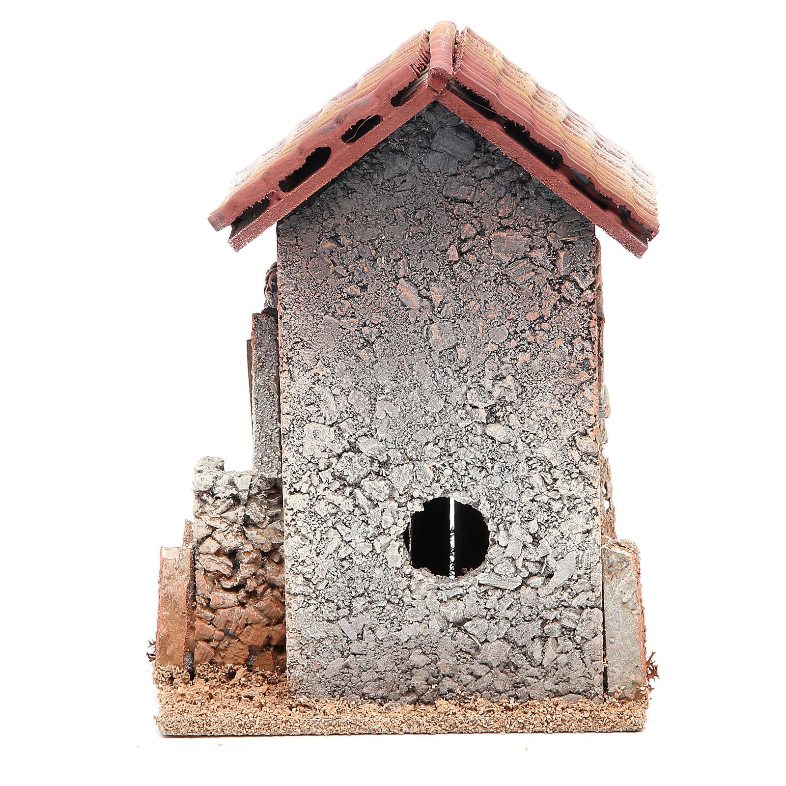Maison en liège 21x15x12 cm crèche 4