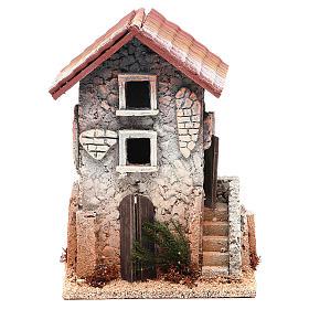Maison en liège 21x15x12 cm crèche s1