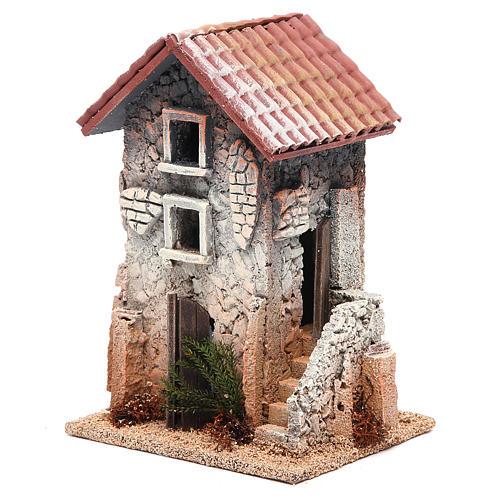 Maison en liège 21x15x12 cm crèche 2