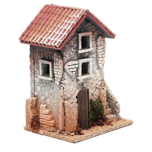 Maison en liège 21x15x12 cm crèche 3
