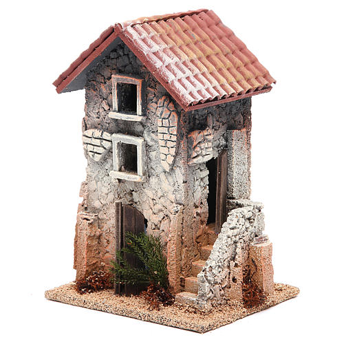 House in cork for nativities measuring 21x15x12cm 2