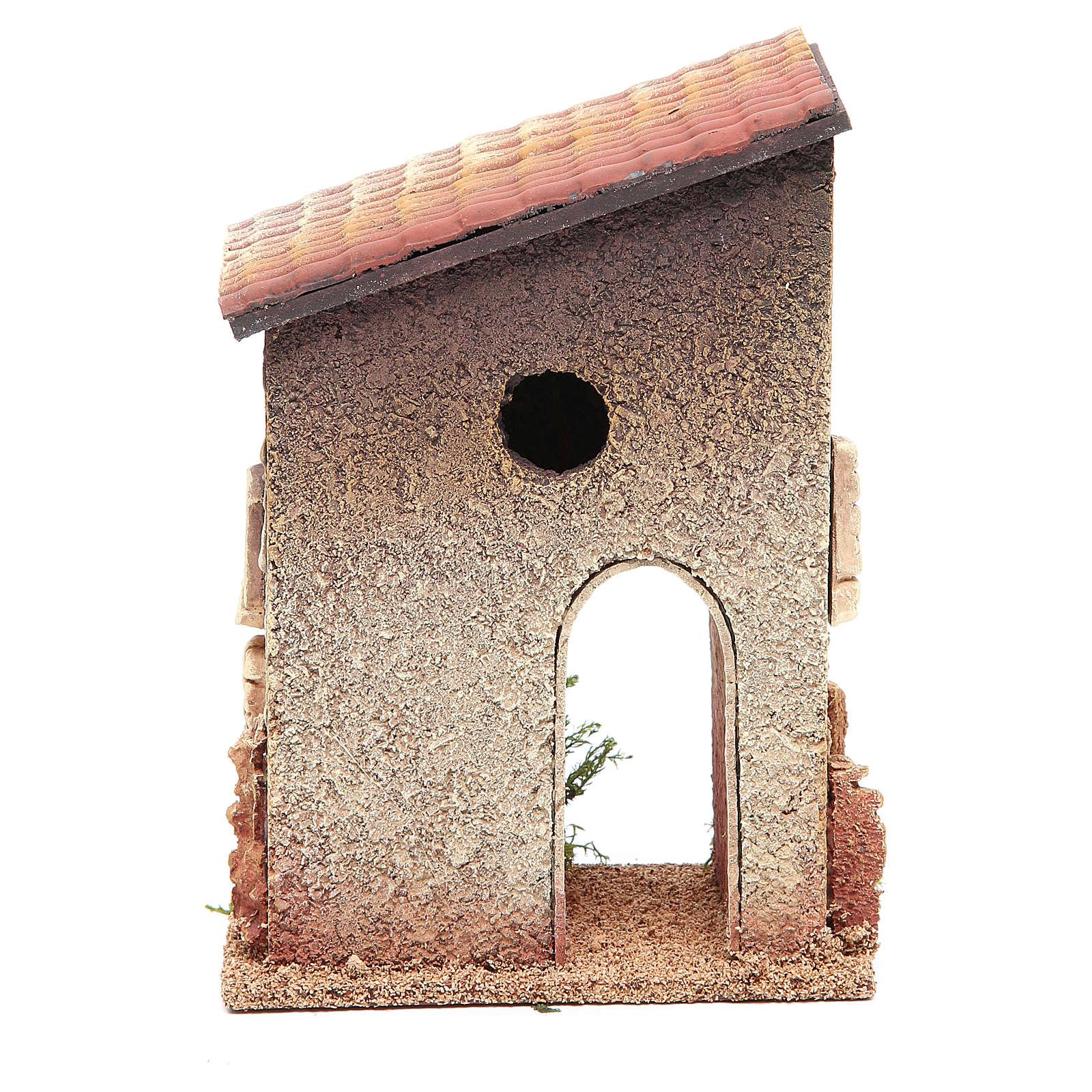 Maisonnette rurale en liège 18x15x13 cm crèche 4