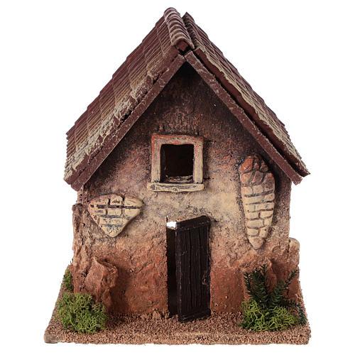 Maisonnette rurale en liège 18x15x13 cm crèche 1