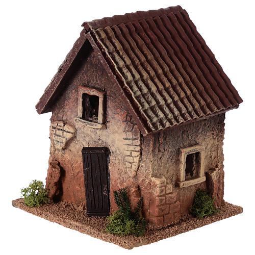Maisonnette rurale en liège 18x15x13 cm crèche 2