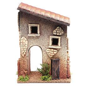 Casetta rurale in sughero 18x15x13 cm presepe s1