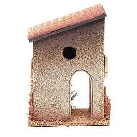 Casetta rurale in sughero 18x15x13 cm presepe s4