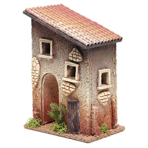 Casetta rurale in sughero 18x15x13 cm presepe 2