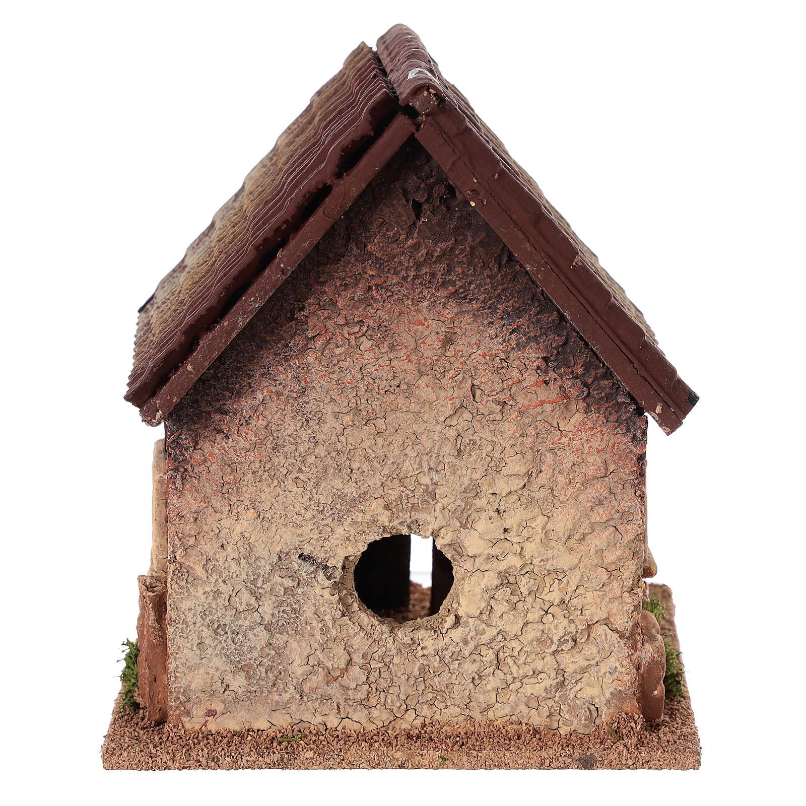 Dom wiejski do szopki 18x15x13 cm 4