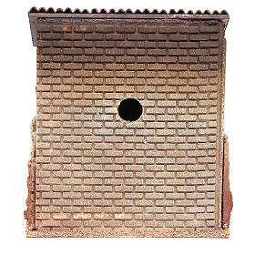 Maison avec porche en liège pour crèche 24x22x14 cm s4