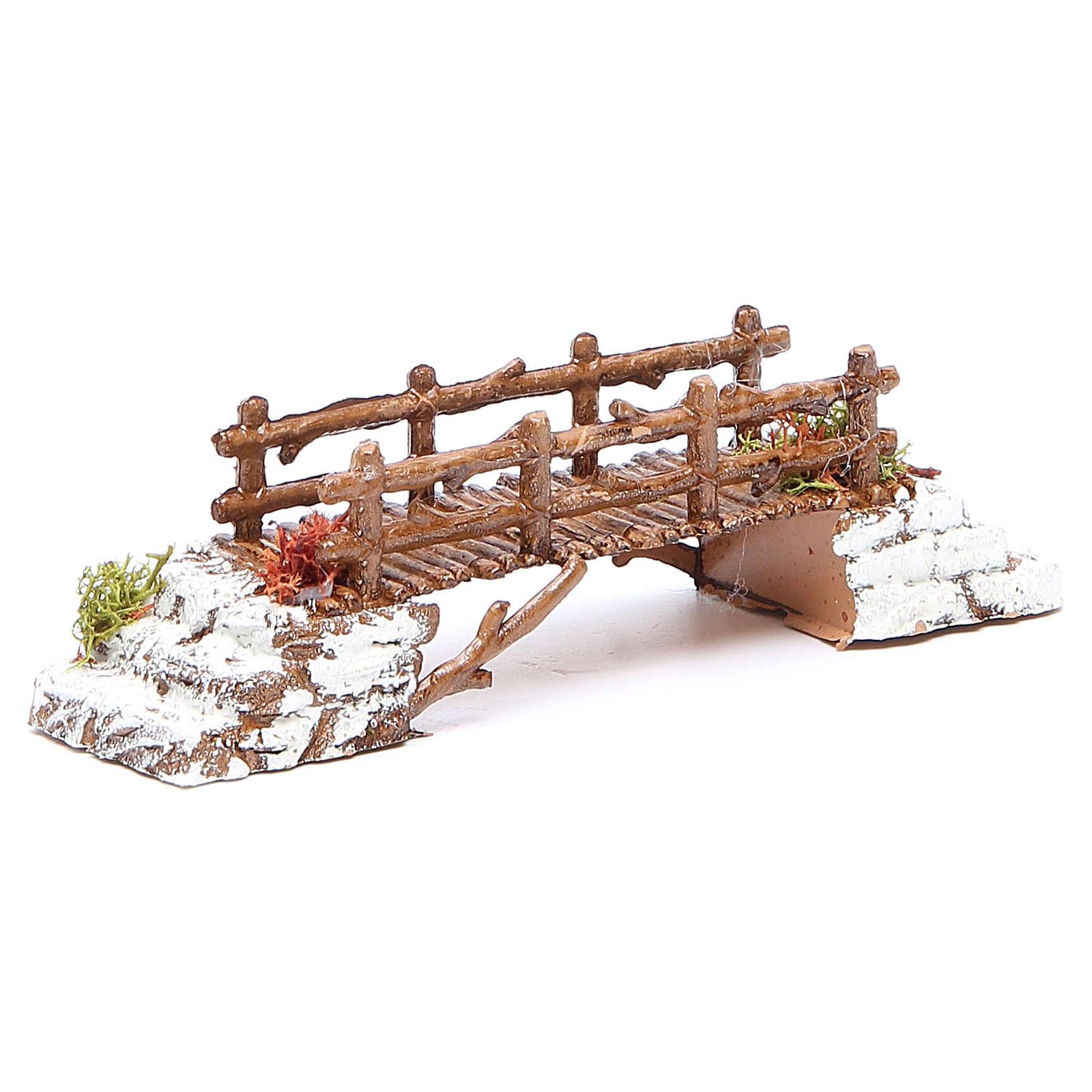 Bridge in PVC for nativities measuring 16x4x4cm 4