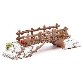 Bridge in PVC for nativities measuring 16x4x4cm s3
