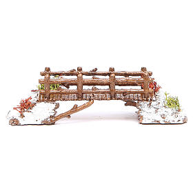 Bridge in PVC for nativities measuring 16x4x4cm s1