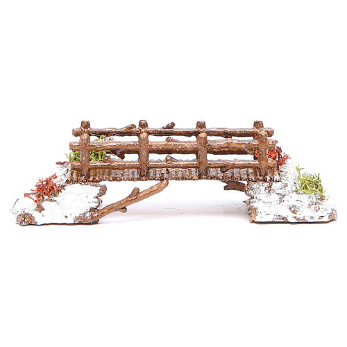 Bridge in PVC for nativities measuring 16x4x4cm 1