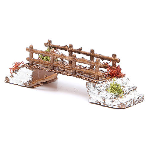Bridge in PVC for nativities measuring 16x4x4cm 2