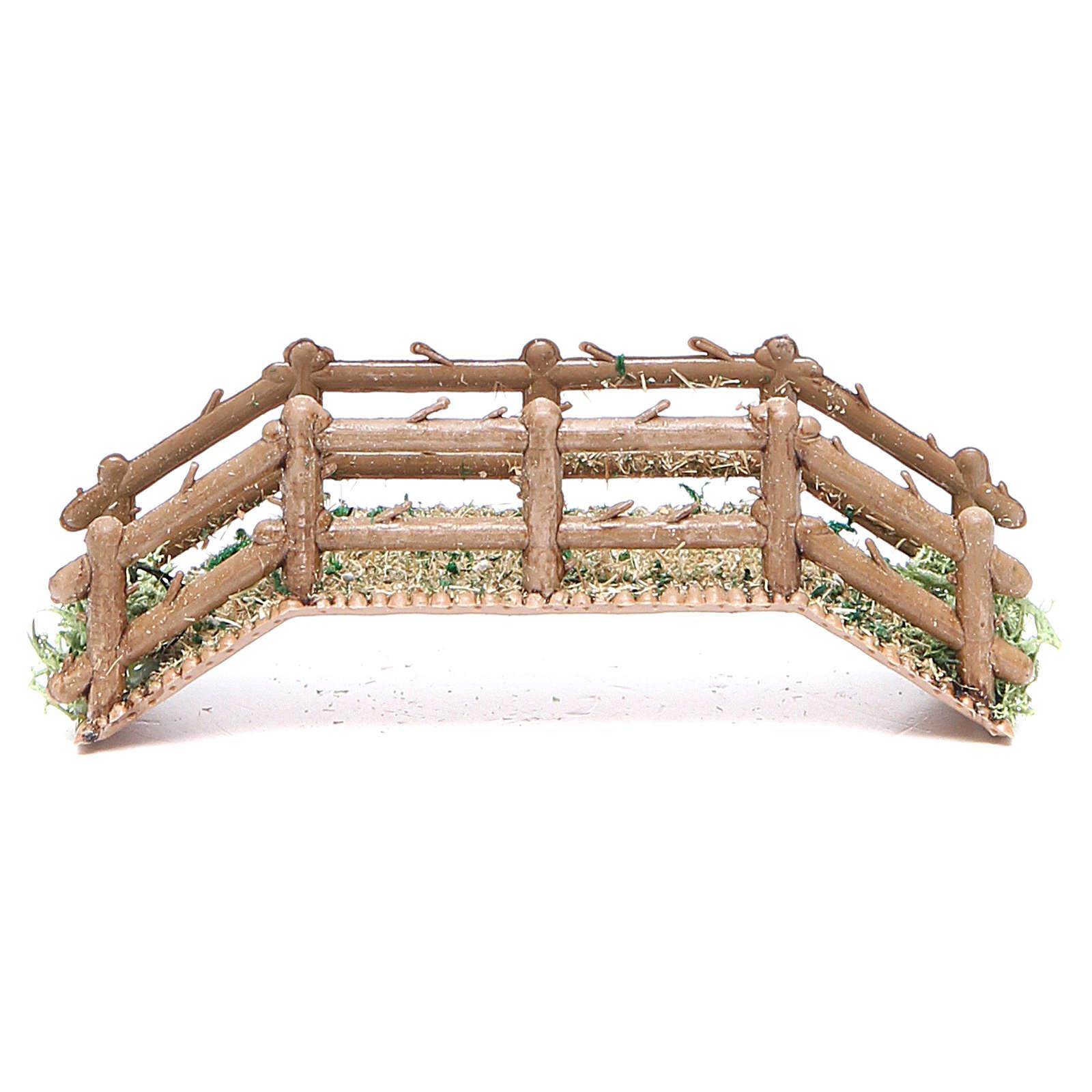 Bridge in PVC for nativities measuring 12x4x3cm 4