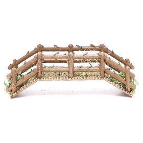 Bridge in PVC for nativities measuring 12x4x3cm s1
