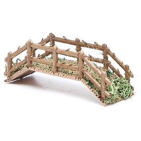 Bridge in PVC for nativities measuring 12x4x3cm s2