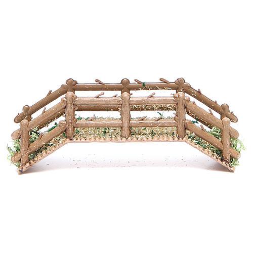 Bridge in PVC for nativities measuring 12x4x3cm 1