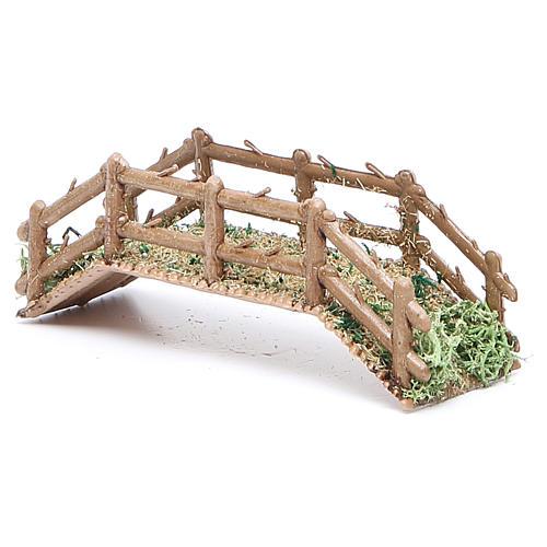 Bridge in PVC for nativities measuring 12x4x3cm 2