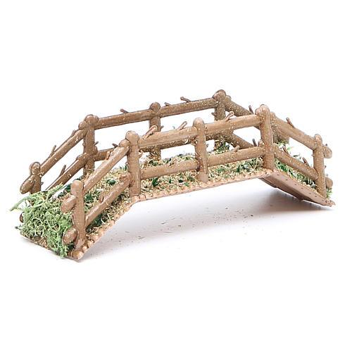 Bridge in PVC for nativities measuring 12x4x3cm 3