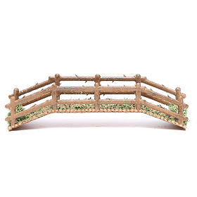 Bridges, streams and fences for Nativity scene: Bridge in PVC with wood effect measuring 21x5x4cm