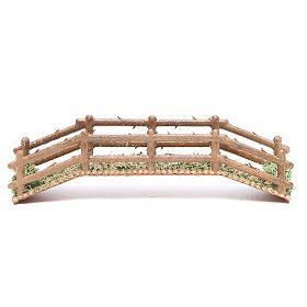 Ponts, ruisseaux, palissades pour crèche: Pont en pvc effet bois 21x5x4 cm