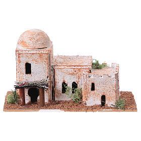 Arabisches Haus aus Kork 8x15x7cm für Krippe s4