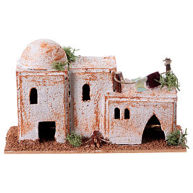 Arabisches Haus aus Kork 8x15x7cm für Krippe s6