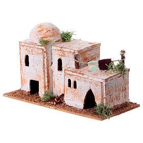 Arabisches Haus aus Kork 8x15x7cm für Krippe s7