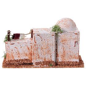 Arabisches Haus aus Kork 8x15x7cm für Krippe s9