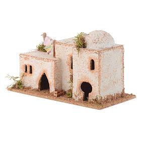 Arabisches Haus aus Kork 8x15x7cm für Krippe s2