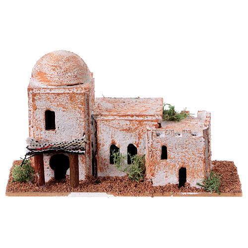 Arabisches Haus aus Kork 8x15x7cm für Krippe 5