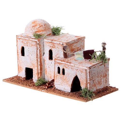 Arabisches Haus aus Kork 8x15x7cm für Krippe 7