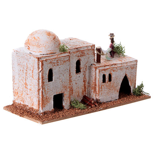 Arabisches Haus aus Kork 8x15x7cm für Krippe 8