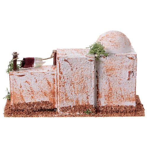 Arabisches Haus aus Kork 8x15x7cm für Krippe 9