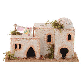 Settings, houses, workshops, wells: Arabian style house in cork measuring 15x7x8cm
