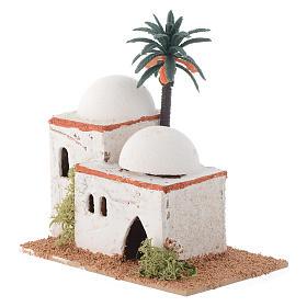 Casita árabe con palma mod. surtidos 12x7xh. 13 cm s2