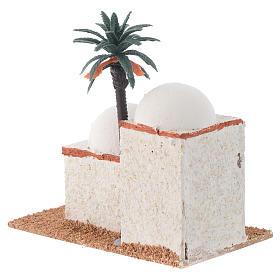 Casita árabe con palma mod. surtidos 12x7xh. 13 cm s3
