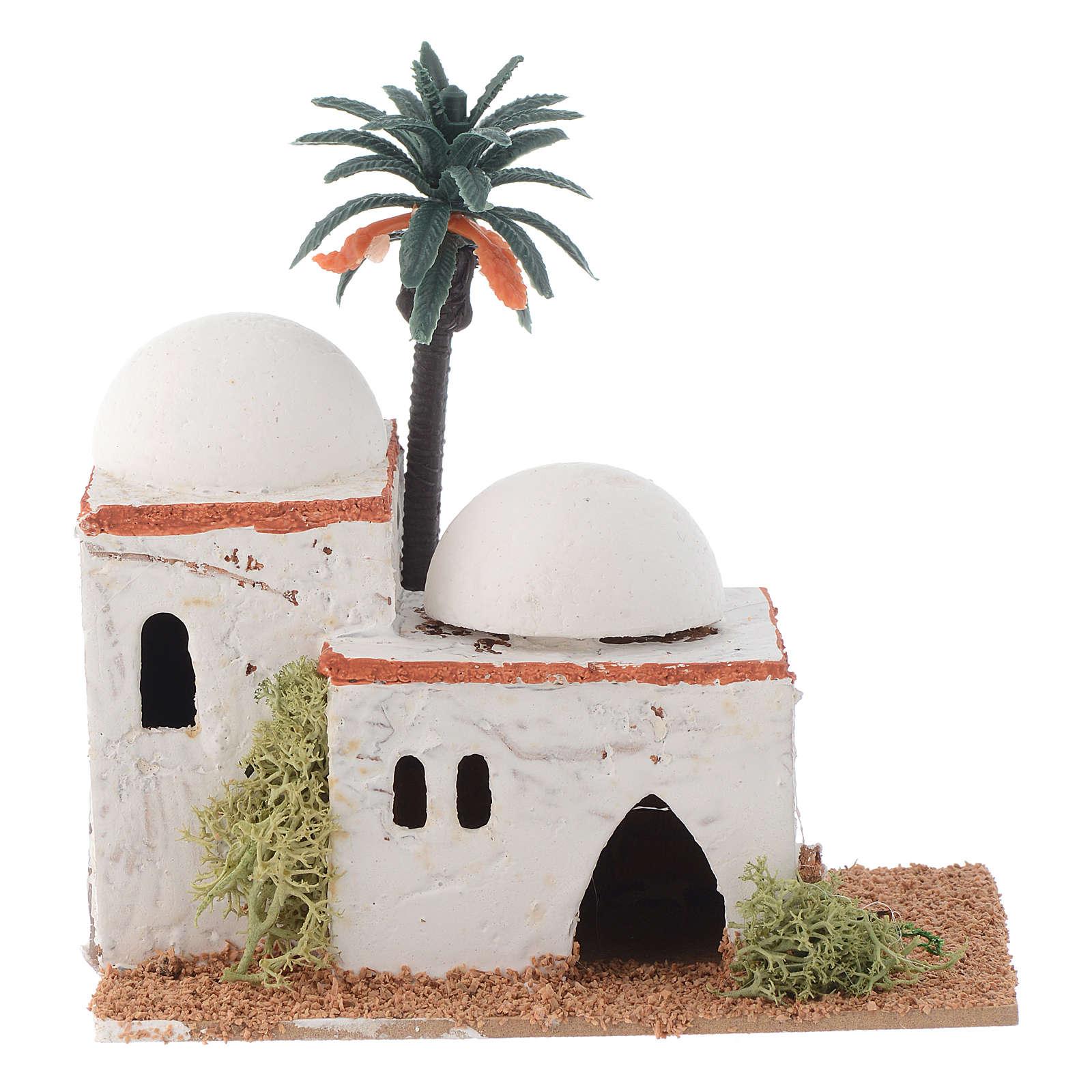 Maisonnette arabe avec palmier mod. assortis 12x7x13 cm 4